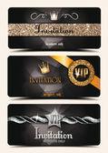 Shiny VIP invitation cards — Vetor de Stock