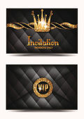 VIP invitation envelope with shiny crown — Stock Vector
