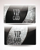 Silver textured VIP cards — Stock Vector