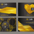 Set of abstract gold club cards — Stock Vector #57473285