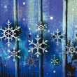 Winter background with snowflakes — Stock Vector #57473425