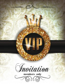 Vintage Vip invitation card — Stock Vector