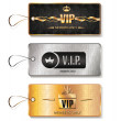 Set of VIP tags with geometric texture — Stock Vector #60588783