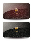 VIP cards with floral design — Stock Vector