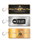 Set of VIP tags with geometric texture — Stock Vector