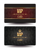 VIP MEMBERS ONLY CARDS WITH GEOMETRIC DESIGN TEXTURE — Stock Vector