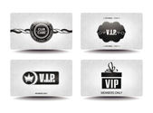 VIP WHITE CARDS WITH GEOMETRIC DESIGN TEXTURE — Stock Vector