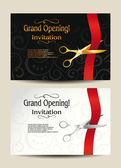 Grand opening invitation cards — Stock Vector