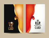 VIP elegant cards with silk gold and red ribbons — Stock Vector