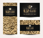 VIP cards with foil background — Stock Vector