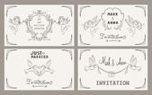 Set of wedding invitation cards — Stock Vector