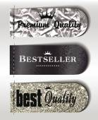 Best Seller and the best Quality different textured labels — Stock Vector