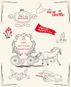 Wedding design vintage elements — Stock Vector