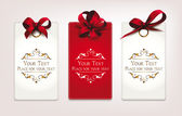 Holiday cards with red bows — Stockvektor