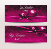 Holiday  valentine's card with pink ribbons — Stock Vector