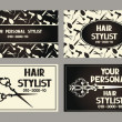Personal hair stylist cards — Stock Vector #65492097