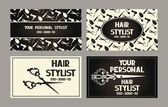 Personal hair stylist cards — Stock Vector