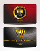 VIP cards with textured background — Stock Vector