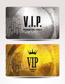 VIP cards with abstract textured background — Stock Vector