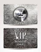 VIP silver cards — Stock Vector