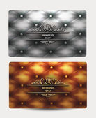 VIP vintage cards with leather texture — Stock Vector