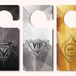 Set of VIP door tags — Stock Vector #76524741