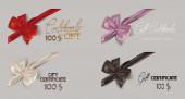 Set of silk bows — Stock Vector