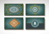 Set of vintage cards — Stock Vector