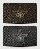 Club cards with stars — Stock Vector