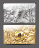 Gold and silver  textured VIP cards — Stock Vector