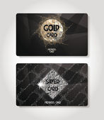 Gold and silver textured cards — Stock Vector