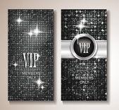 Platinum shiny Vip cards — Stock Vector