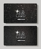 Silver club cards on the shiny background — Stock Vector