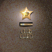 VIP club card on the textured background — Stock Vector
