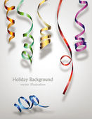Colorful ribbons. Holiday background — Stock Vector