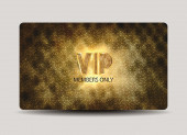 Gold textured Vip card — Stock Vector
