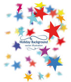 Holiday background with colorful blured stars — Stock Vector