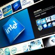 BELGRADE - JANUAR 29, 2014: Google image search for Intel logo photos on PC screen — Stock Photo #53470187