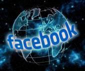 BELGRADE - SEPTEMBER 09, 2014 Social media website Facebook logo on computer screen close up — Foto Stock