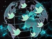 Bělehrad - 09 září 2014 sociální média stránky twitter logo na obrazovce počítače zblízka — Stock fotografie