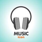 Music headphones logo icon design — Stock Vector
