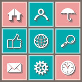 Social media icon set — Stock Vector
