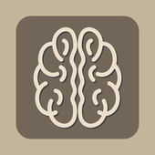 Brain vector icon — Stock Vector