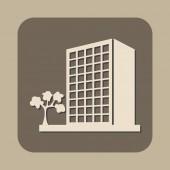 ベクトルのアイコンの建物 — ストックベクタ