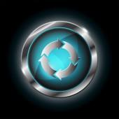 Circular arrow sign icon — Stockvector