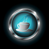 Coffee cup vector icon — Stock Vector
