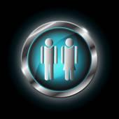Man and woman vector icon — Stock Vector