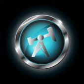 Oil pump jack icon — Stock Vector