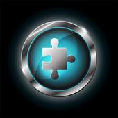 Puzzle vector icon — Stock Vector