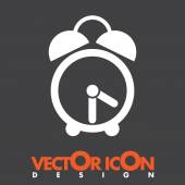 Analog clock vector icon — Wektor stockowy
